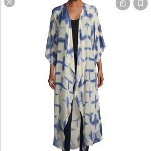 100% silk long kimono with open back